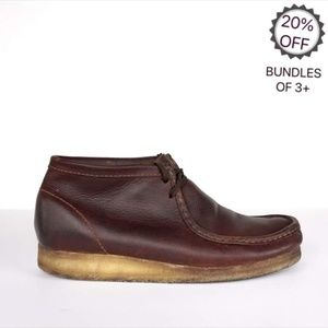 Clarks | Wallabees Brown Leather Shoes | 12M